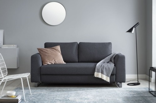 Boxspring Schlafsofa Bruno in anthrazit