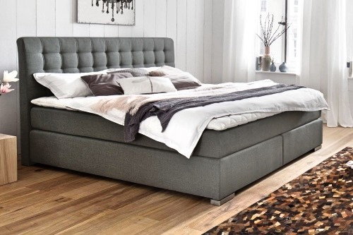 Matai Boxspringbett in grau