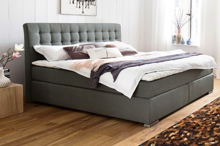 Matai Boxspringbett in anthrazit